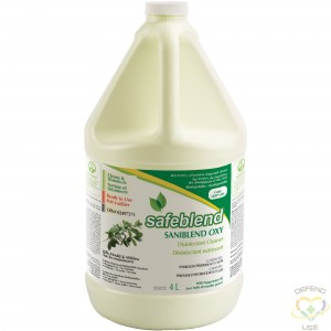 SAFEBLEND OXY Peppermint Oil Disinfectant Cleaner, Jug, 4 L - 1
