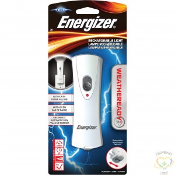 ENERGIZER  Weatheready® Flashlight, LED, 40 Lumens, Rechargeable Batteries - 1