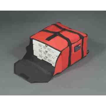 "Rubbermaid ProServe® Red Nylon Medium Pizza Delivery Bag - 18""L x 17 1/4""W x 7 3/4""H - 2"
