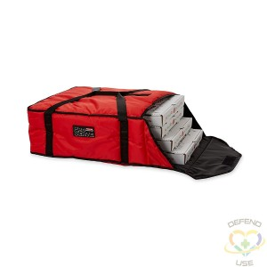 """Rubbermaid ProServe® Red Nylon Large Pizza Delivery Bag - 21 1/2""""L x 19 3/4""""W x 7 3/4""""H"""