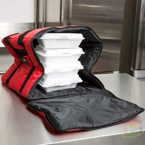"""Rubbermaid ProServe® Red Nylon Medium Food Delivery Bag -17""""L x 17""""W x 13""""H"""