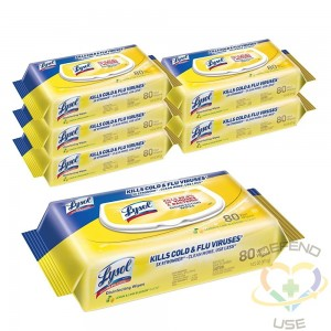 Lysol Disinfecting Wipes, Flat Pack, Citrus Scent, 6/80ct