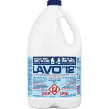 LAVO  Liquid Bleach, Jug, 3.6 L, Case of 6 - 1