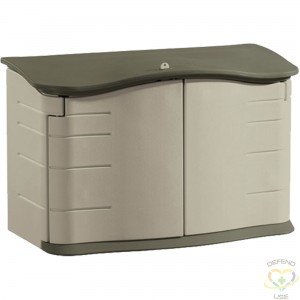 """RUBBERMAID HOME  Horizontal Storage Shed Height: 36"""" Width: 56"""" Depth: 28"""" Storage Capacity cu.ft.: 18 - 1"""