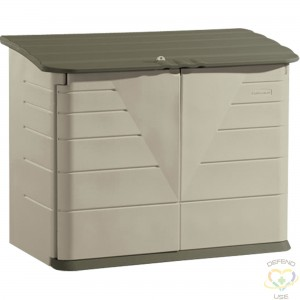 """RUBBERMAID HOME  Large Horizontal Storage Shed Height: 47"""" Width: 60"""" Depth: 32"""" Storage Capacity cu.ft.: 32 - 1"""