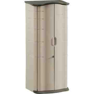"RUBBERMAID HOME  Rubbermaid® Vertical Storage Sheds Width: 26"" Depth: 19"" Storage capacity: 17 cu. ft. - 1"