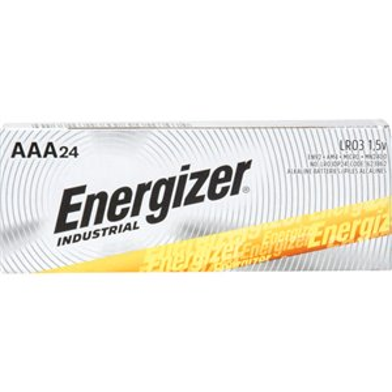 Alkaline Industrial Batteries, 24/Box, AAA, 1.5 V Box of 24
