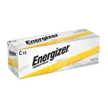 Alkaline Industrial Batteries, C, 1.5 V Box of 12