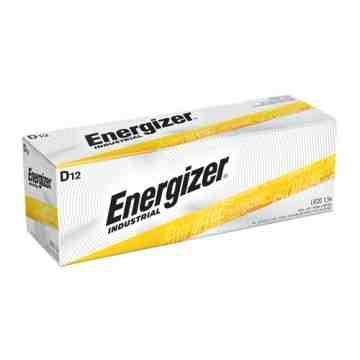 Alkaline Industrial Batteries, D, 1.5 V Box of 12