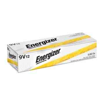 Alkaline Industrial Batteries, 9 V Box of 12