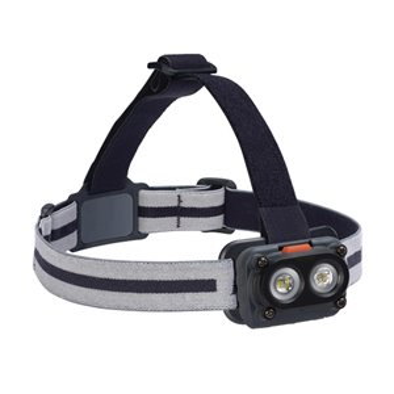 Hardcase Rugged Headlamp, LED, 325 Lumens, 6.5 Hrs. Run Time, AA Batteries