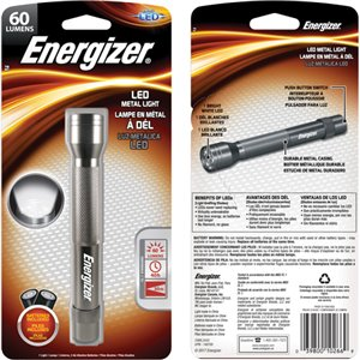 Hand-held Flashlight, LED, 60 Lumens, AA Batteries Each