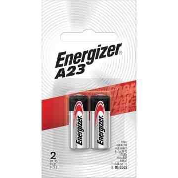 Miniature Alkaline Battery, A23, 12 V Pack of 2