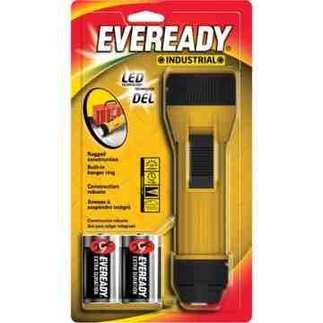 Eveready® Industrial Economy Flashlight, LED, 35 Lumens, D Batteries Each