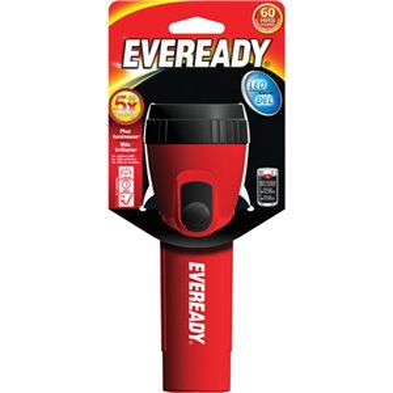 Eveready® General Purpose Flashlight, LED, 25 Lumens, D Batteries Each