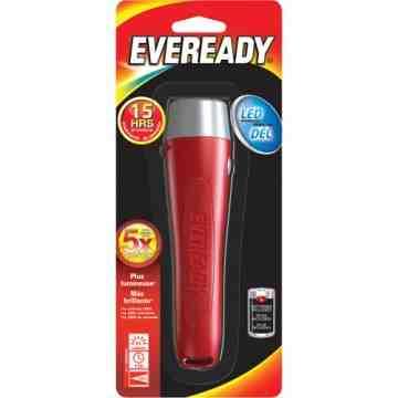 Eveready® All-Purpose Flashlight, LED, 65 Lumens, AA Batteries Each