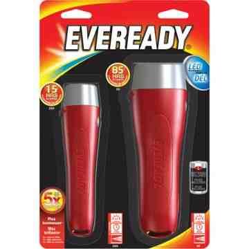 Eveready® All-Purpose Flashlight Combo, LED, 65 Lumens, AA Batteries Each