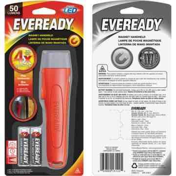 Eveready®Magnet Light, LED, 50 Lumens, AA Batteries Each