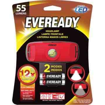 Headlight, LED, 55 Lumens, 0.4 Hrs. Run Time