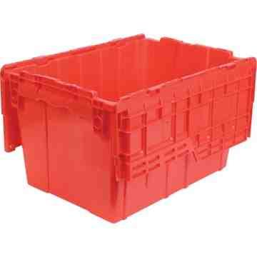 "Flipak® Polyethylene Plastic (PE) Distribution Containers, 21.8"" x 15.2"" x 12.9"", Red"