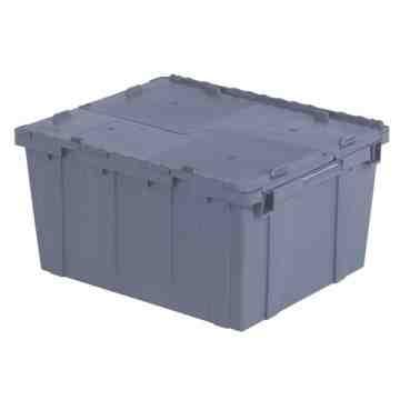 "Flipak® Polyethylene Plastic (PE) Distribution Containers, 23.9"" x 19.6"" x 12.6"", Grey"
