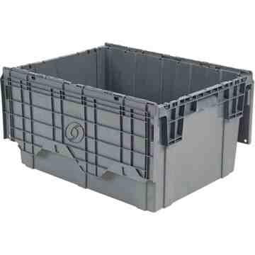 "Flipak® Polyethylene Plastic (PE) Distribution Containers, 39"" x 14"" x 13"", Grey"