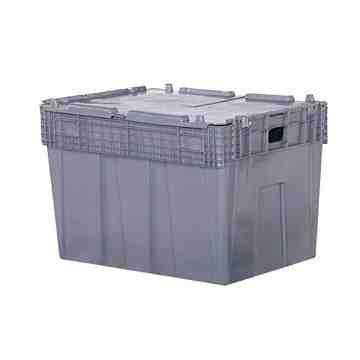 "Flipak® Polyethylene Plastic (PE) Distribution Containers, 30"" x 22"" x 20.5"", Grey"