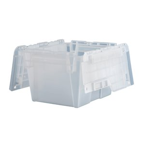 """Flipak® Polypropylene Plastic (PP) Distribution Containers, 11.8"""" x 9.8"""" x 7.7"""", Clear"""