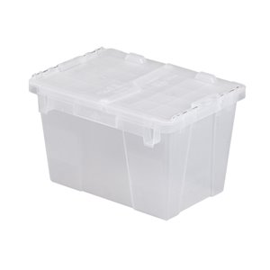 """Flipak® Polypropylene Plastic (PP) Distribution Containers, 15.2"""" x 10.9"""" x 9.7"""", Clear"""