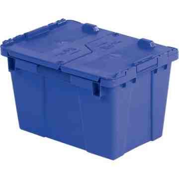 "Flipak® Polyethylene Plastic (PE) Distribution Containers, 15.2"" x 10.9"" x 9.7"", Blue"