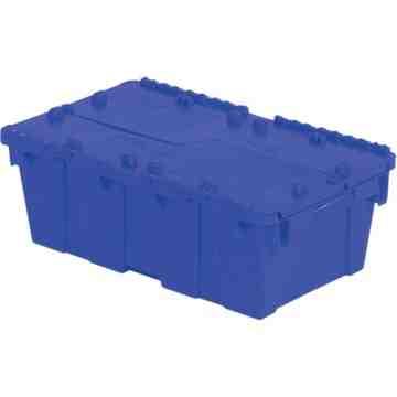 "Flipak® Polyethylene Plastic (PE) Distribution Containers, 19.7"" x 11.8"" x 7.3"", Blue"