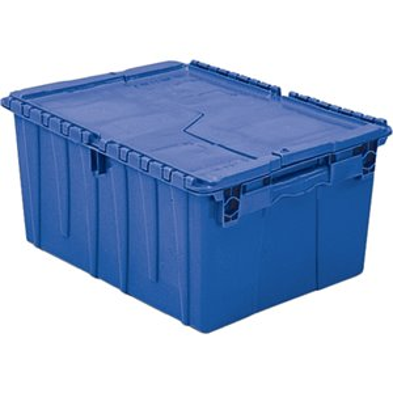"Flipak® Polyethylene Plastic (PE) Distribution Containers, 23.9"" x 19.6"" x 12.6"", Blue"