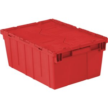 "Flipak® Polyethylene Plastic (PE) Distribution Containers, 21.9"" x 15.2"" x 9.3"", Red"