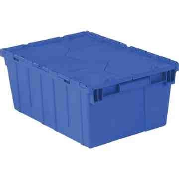 "Flipak® Polyethylene Plastic (PE) Distribution Containers, 21.9"" x 15.2"" x 9.3"", Blue"