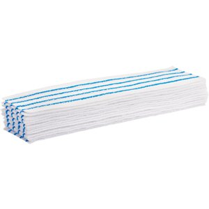 """Disposable Mop Pad, Hook and Loop Style, Microfibre, 18"""" L x 4"""" W Pack of 50"""