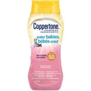 Water Babies® Non-Irritating Sunscreen, SPF 50, 237 ml, Lotion Bottle
