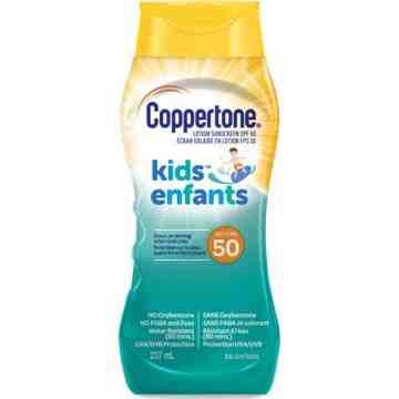 Kids™ Water Resistant Sunscreen, SPF 50, 237 ml, Lotion Bottle