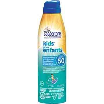 Kids™ Water Resistant Sunscreen, SPF 50, 177 ml, Aerosol Bottle