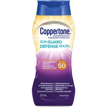 Water Resistant Sunscreen, SPF 50, 237 ml, Lotion Bottle