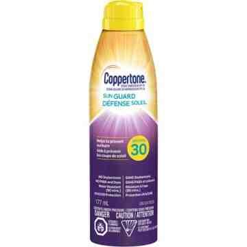 Water Resistant Sunscreen, SPF 30, 177 ml, Aerosol Bottle