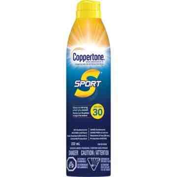 Sport® Water Resistant Sunscreen, SPF 30, 222 ml, Aerosol Bottle