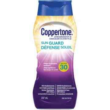 Water Resistant Sunscreen, SPF 30, 237 ml, Lotion Bottle