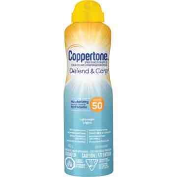 Defend & Care® Moisturizing Sunscreen, SPF 50, 142 g, Aerosol Bottle