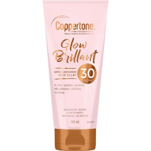 Glow Sunscreen with Shimmer, SPF 30, 148 ml, Lotion Bottle