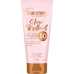 Glow Sunscreen with Shimmer, SPF 50, 148 ml, Lotion Bottle