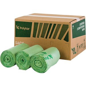 Certified Compostable Bags Box of 150