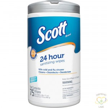 "SCOTT  24 Hour Sanitizing Wipe, 8"" x 6-3/4"", 75 Count - 1"