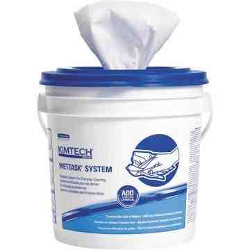 """KIMBERLY-CLARK  Kimtech Prep™ WetTask™ Disinfectant & Sanitizer Wipes, Specialty, 12"""" L x 12-1/2"""" W - 1"""
