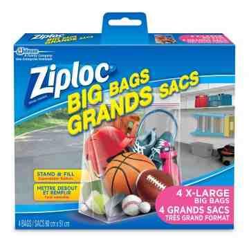 Ziploc Brand Bags - Big Bags X-Large - Case of 8/4ct