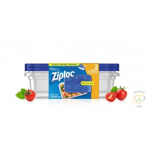 Ziploc Brand Containers - Rectangle Large (2X3) - Case of 6/2ct